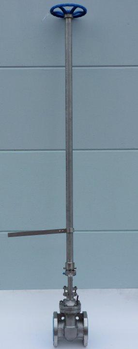 DN100 Gate Valve vzv 1780mm enkelvoudige verlengspindel. Verschillende lengtes zijn natuurlijk mogelijk.