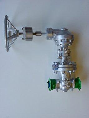 Special extended lever t.b.v.  DN50 neway gate valve. Lever is voorzien van een stopbus constructie.