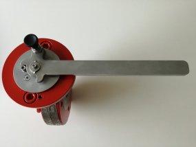 RVS hendel met blokkeerbout voor open of dicht stand